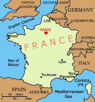 Paris Map Of France