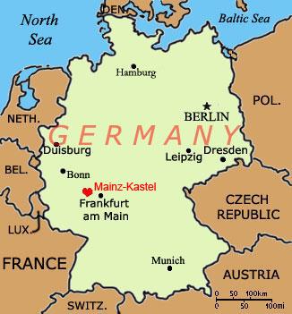 Mainz Germany Map France Map - Germany map mainz