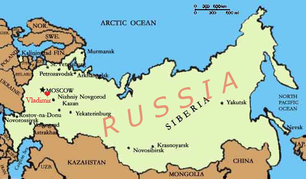 Vladimir Russia Map.Old Kievan Rus Buildings B4 Mongol Invasion Prove Europeans Didn T