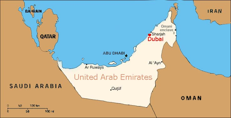 Uae Dubai Map AADE – Map of Dubai United Arab Emirates